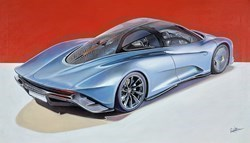 2019 McLaren Speedtail by Roz Wilson -  sized 38x22 inches. Available from Whitewall Galleries
